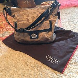 Fabric Logo Coach Handbag